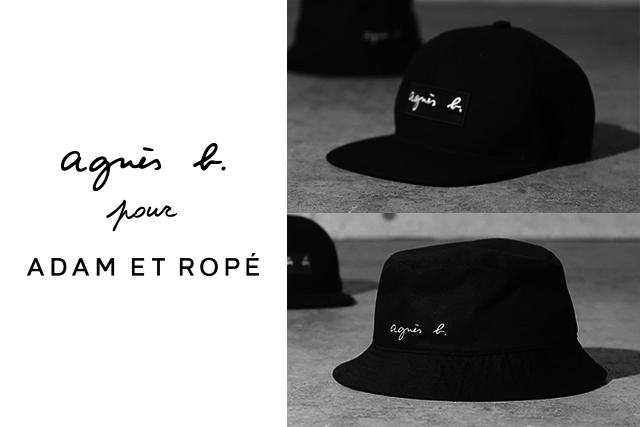 66b0012b94b agnès b. pour ADAM ET ROPÉ BOX LOGO CAP   HAT 6.29 FRI. RELEASE.